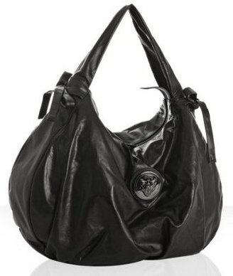 Gucci black leather &#39;Hysteria&#39; medium hobo - Shoulder Bags