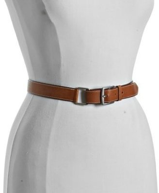 Hermes cognac leather 'Ruban' skinny belt - Hermes