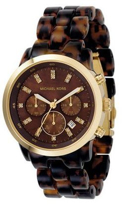 Michael kors oversized chocolate-dial watch - Oversized Watches for Women