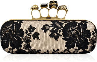 Alexander McQueen Knuckle Duster box clutch - Selita Ebanks&#39; Designer Faves