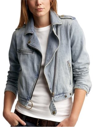 Denim biker jacket - Get This Look-Jessica Alba