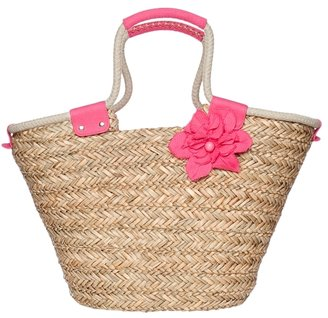 Poppie Jones In Bloom Straw Tote - Handbags
