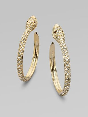 "Kenneth Jay Lane Snake Hoop Earrings/1¾"" - Hoop Earrings"