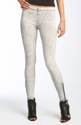 Joe&#39;s Jeans Side Zip Hem Stretch Denim Leggings (Mineral Light Grey Wash) - Joe&#39;s Jeans