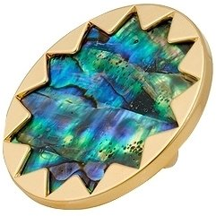 House of Harlow 1960 - Abalone Gold Sunburst Cocktail Ring -  Bohemian Jewelry