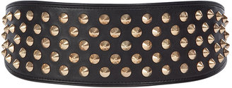 Givenchy Black/Gold Metal Waisted Belt - Studded Belt