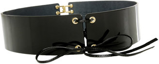 Yves Saint Laurent Black Patent Leather Belt - Yves Saint Laurent