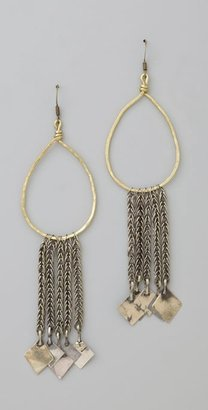 Onward Into The Future Metal Fringe Earrings - Jewelry
