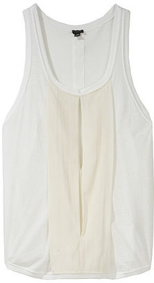 3.1 Phillip Lim Muscle T with Chiffon Window - Silk Pajamas