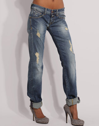 Replay Ripped Boyfriend Jeans - Jeans