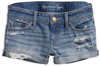 AE Destroyed Denim Shortie - Denim Trend - Spring 2010