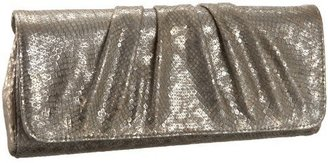 Lauren Merkin Caroline Metallic Textured Snake Clutch - Metallic Purses