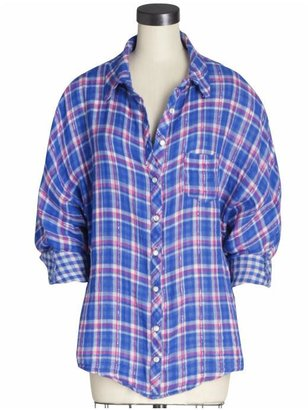 Splendid Double Cloth Plaid Shirt - Plaid Button-Down Shirts 