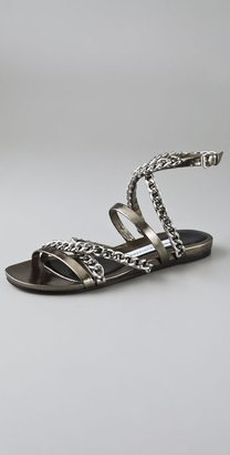 Camilla Skovgaard Chain Cross Strap Flat Sandals - Camilla Skovgaard