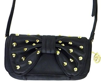 Vieta - Black Studded Sheila Clutch - Clutches