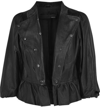 Armand Basi Corsilla cropped leather jacket - Dress Like Carly Shay