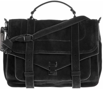 Proenza Schouler Large Suede PS1 - Black - Handbags