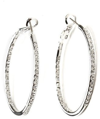 Ccc Medium Rhinestone Hoops - Dress Like Demi Lovato