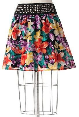 Lc lauren conrad floral embellished skirt - Dress Like Lauren Conrad