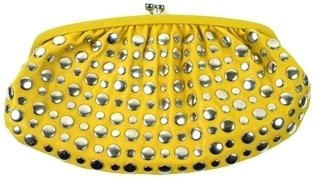 Yellow Studded Ana Capri Clutch - Clutches