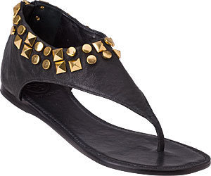 Tory Burch - Stud Sandal Black Leather - Sandals