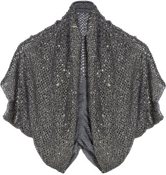 Alice + Olivia Beaded crochet shrug - Sassy Shrug Sweaters