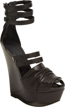 Givenchy Multi-Strap Wedge - Black - Heels