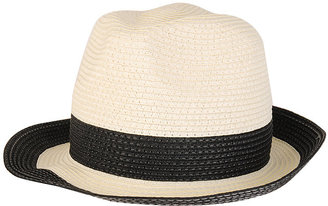 Contrast Trim Fedora - Forever 21