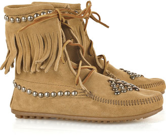 Bess Trampers studded suede boots - Moccasins