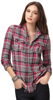 The Shirt by Joe&#39;s Sexy Plaid Button-Down Shirt - Plaid Button-Down Shirts 