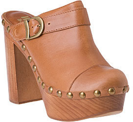 Jeffrey Campbell Clogs - Charlie Tan Leather - Chic and Easy Clogs