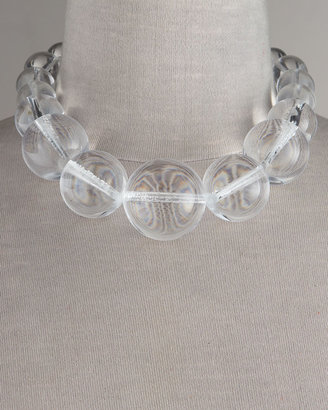 Lee Angel Graduated Clear Bead Necklace - Jewelry