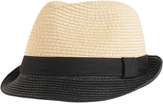 Colorblock Straw Fedora - Hats