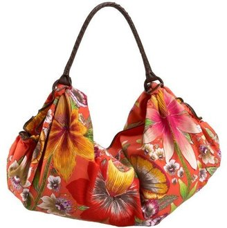 ECHO Tropical Paradise Hobo - Flower Print Handbags