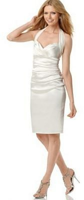 Suzi Chin Dress, Ruched Halter - Dresses &amp; Skirts