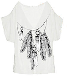Wildfox Couture Amulet Chain V Neck Tee - Wildfox Couture