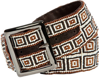 HTC Dark Brown Kubrick Pearls Leather Belt - HTC