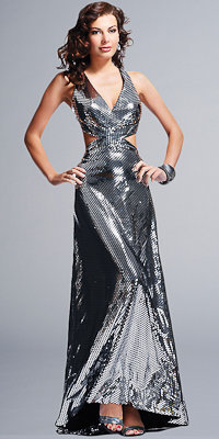 Silver Prom Gowns by BG Haute - eDressMe