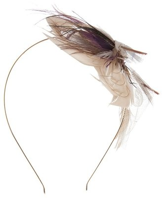 PEARL&amp;IVY - Ivory-toned looped feather headband - Accessories