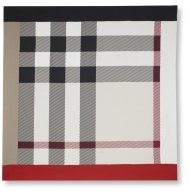 Square Check Silk Scarf - Accessories