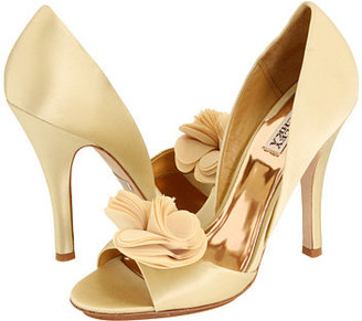 Badgley Mischka - Randall (Gold Satin) - Evening Pumps
