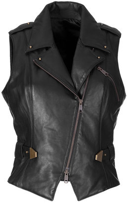 Steffen Schraut Black Sleeveless Biker Style Vest - Dress Like Cassadee Pope