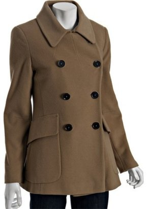 Elie Tahari camel wool blend &#39;Mia&#39; peacoat - The Jackie O Jacket