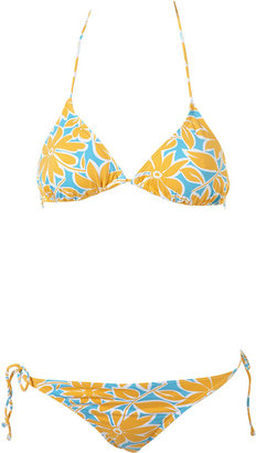 Flower Print Padded Bikini - Topshop