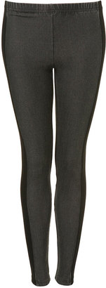 Panelled Denim Leggings - Pants &amp; Shorts