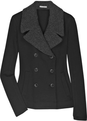 James Perse Fleece Sherpa peacoat - The Jackie O Jacket