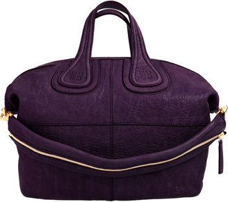 Givenchy Medium Textured Nightingale - Dark Purple - Satchel
