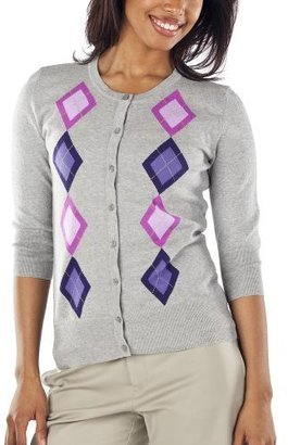 Merona Women&#39;s Essential Cardigan - Grey Argyle - Argyle Sweaters