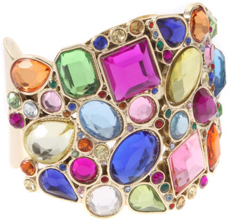 Lipsy Multi Jewelled Cuff Bangle - Jewelry