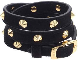 CC Skye Black Suede And Gold Spike Triple Wrap Bracelet - Dress Like Kimberly Wyatt
